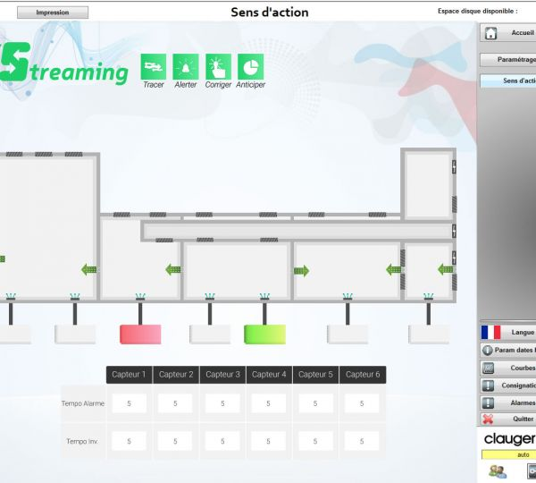 Gestion des flux d'air grâce à l'E-Streaming Clauger