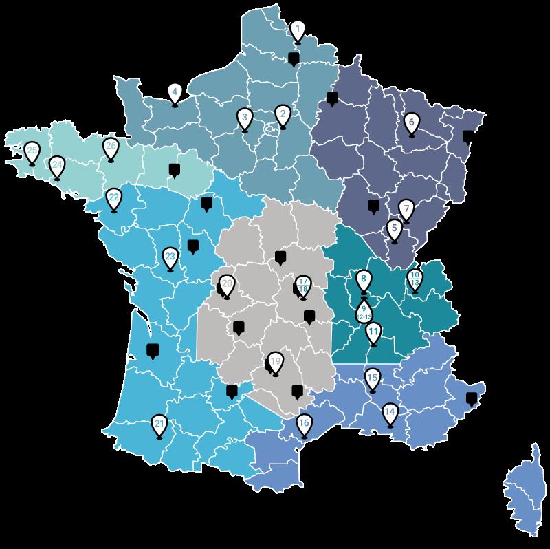 Réseau France Clauger - une agence proche de chez vous