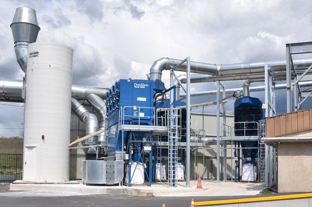 Installation de dépoussiérage et ventilation industriels