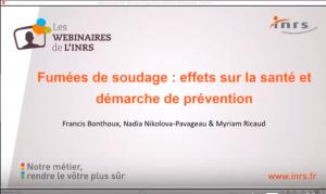 Webinaire – Fumées de soudage : risques pour la santé et prévention