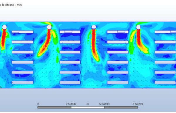 Modélisation CFD : Après modification réseau aéraulique