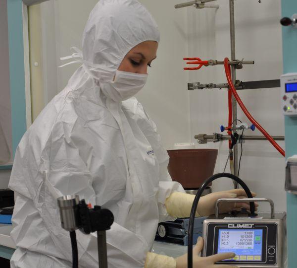 Maîtrise de l'aérocontamination - mesure du taux d'empoussièrement