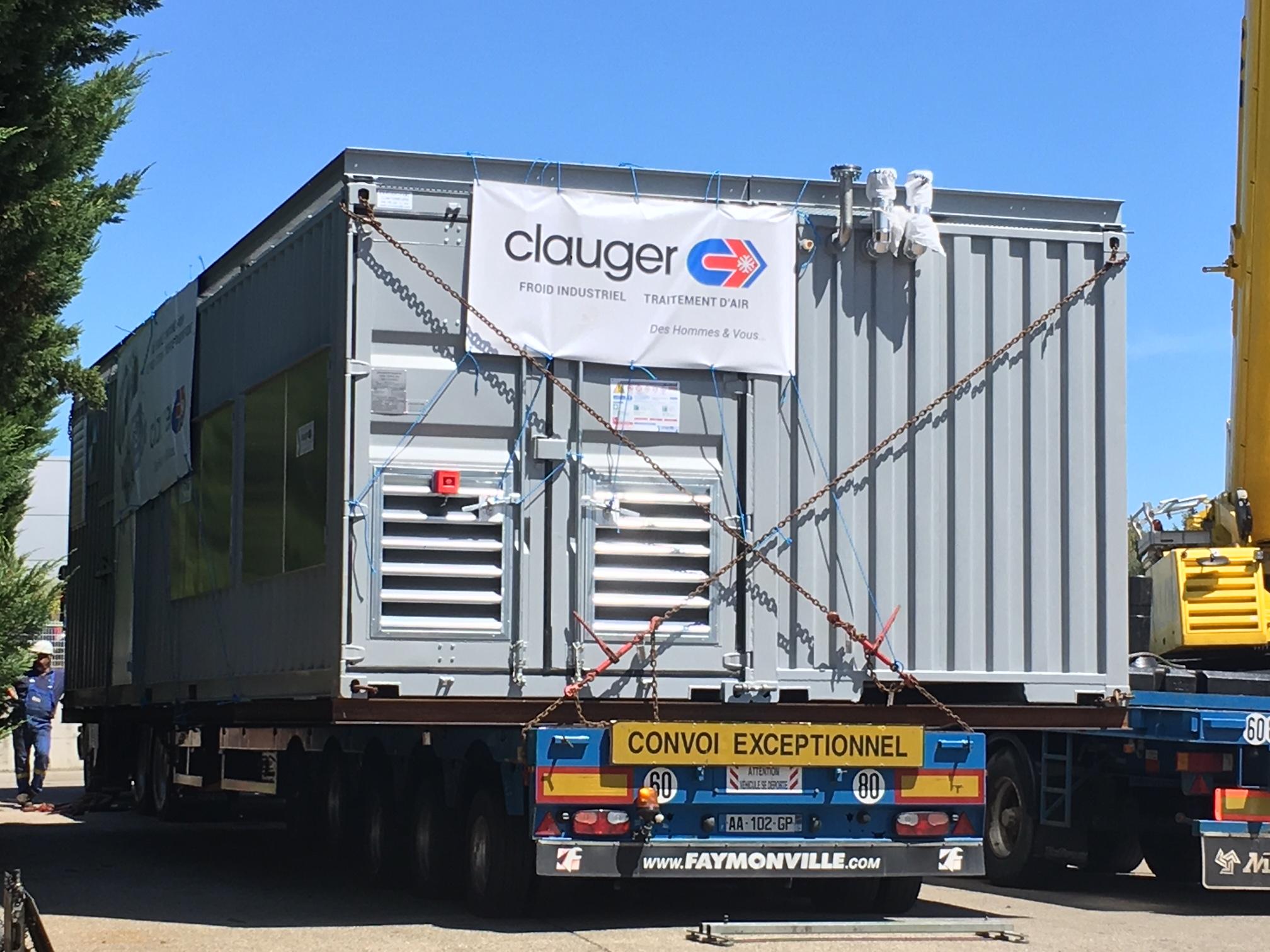 convoi exceptionnel : un double container pour une production d'énergie frigorifique