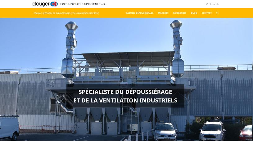Site web du spécialiste du dépoussiérage et de la ventilation industrielle