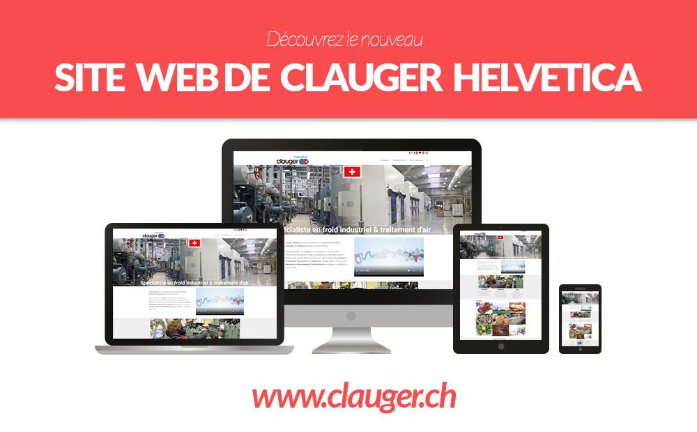 nouveau site web Clauger Helvetica