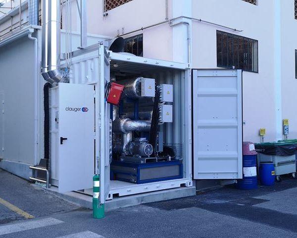 Skid Chaud Clauger 300°C ouvert pour une unité de distillation