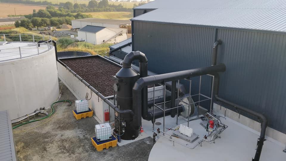 Unité complète de désodorisation pour le site de Méthanisation de Loudéac en Bretagne Biodéac