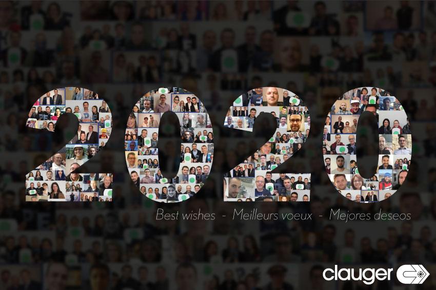 Clauger vous adresse ses meilleurs vœux pour 2020 !