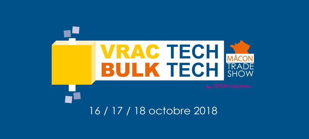 Clauger, spécialiste du dépoussiérage, présent au salon VRAC TECH de Mâcon, les 16, 17 et 18 octobre 2018