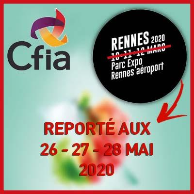 le CFIA 2020 reporté aux 26, 27 et 28 mai 2020 à Rennes