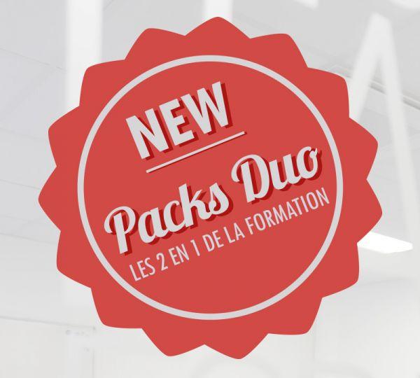 Packs Duo : Les 2 en 1 de la formation : 1 formation réglementaire + une formation de montée en compétences